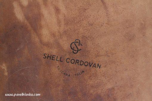 Ručně vyrobený kožený řemínek pro hodinky Apple Watch z kůže Shell Cordovan na zakázku